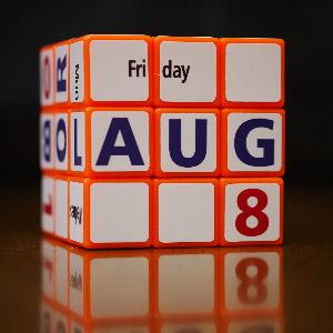 カレンダー キューブ イングリッシュ